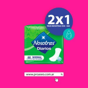 Nosotras 2×1 Protector Normal x 60